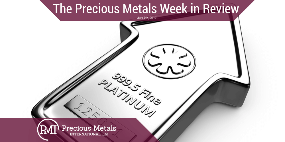 The Precious Metals Week in Review - July 7th, 2017.