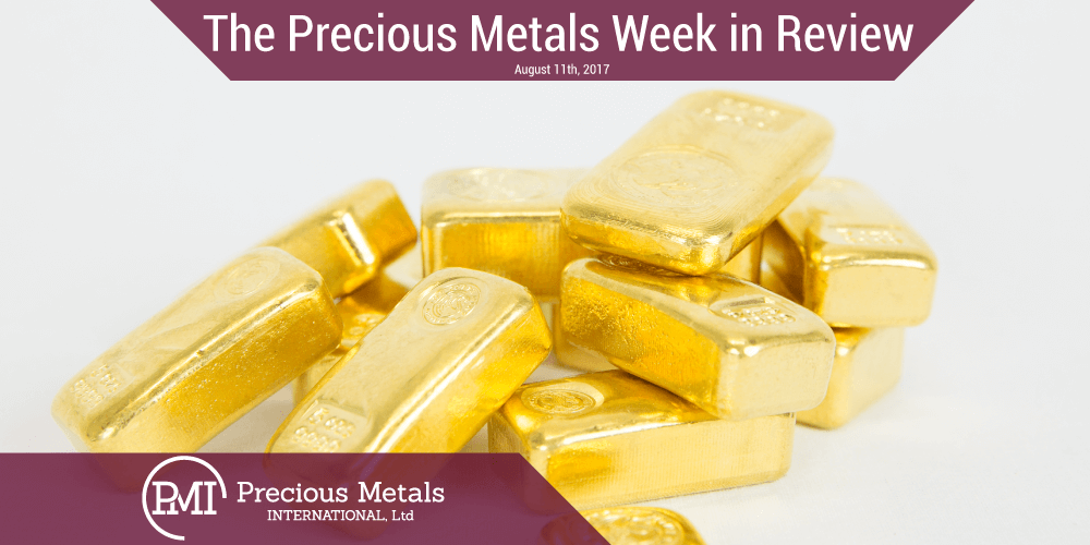 The Precious Metals Week in Review - August 11, 2017 - Precious Metals International