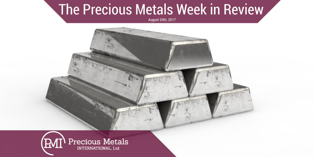 The Precious Metals Week in Review - August 25, 2017 - Precious Metals International