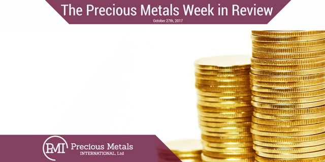 The Precious Metals Week in Review - October 27, 2017 - Precious Metals International