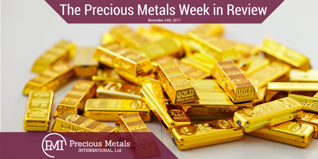 The Precious Metals Week in Review - November 24, 2017