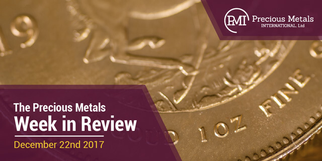 The Precious Metals Week in Review - December 22, 2017