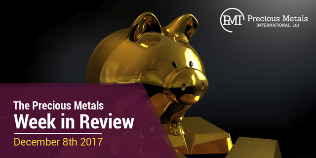 The Precious Metals Week in Review - December 8, 2017