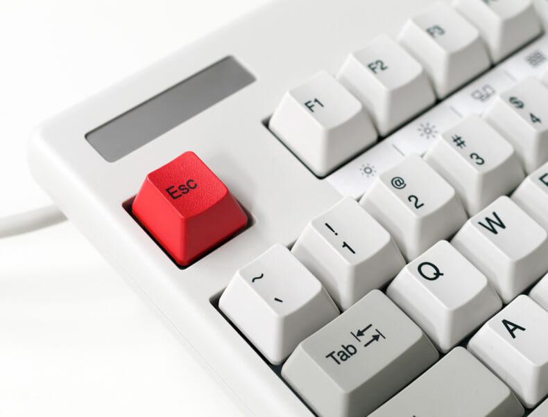 Pressing The Escape Key