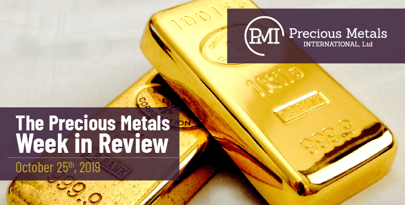 The Precious Metals Week in Review - October 25th, 2019.