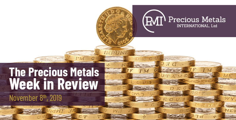 The Precious Metals Week in Review - November 8th, 2019.