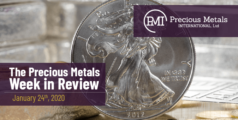 The Precious Metals Week in Review - January 24th, 2020.