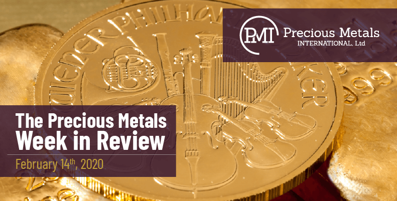 The Precious Metals Week in Review - February 14th, 2020.