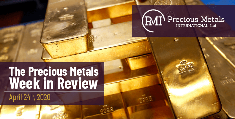 The Precious Metals Week in Review - April 24th, 2020.