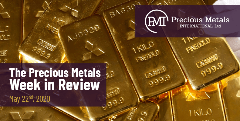 The Precious Metals Week in Review - May 22nd, 2020.