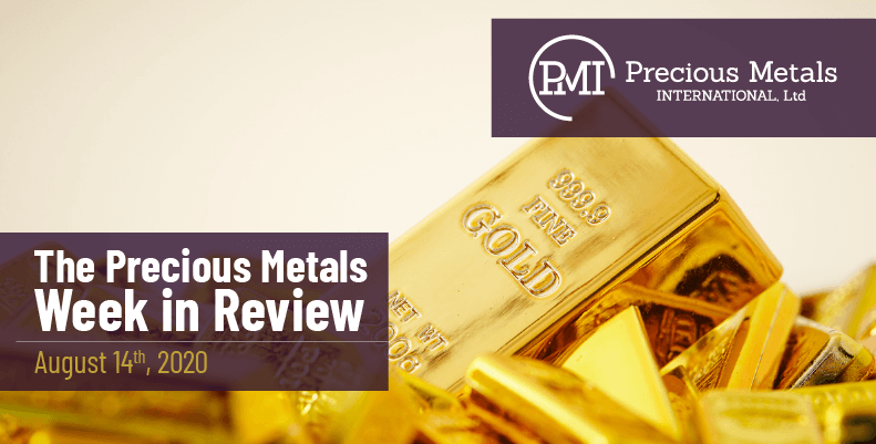 The Precious Metals Week in Review - August 14th, 2020.
