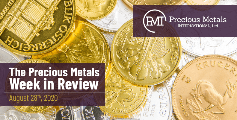 The Precious Metals Week in Review - August 28th, 2020.