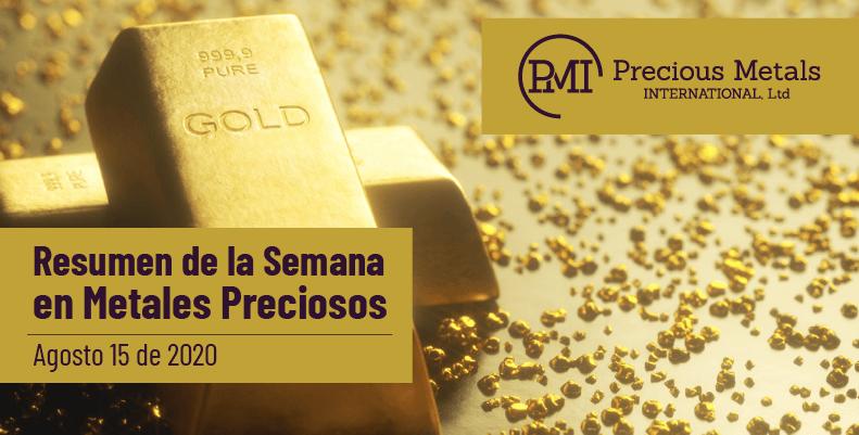Resumen de la Semana en Metales Preciosos - Agosto 15 de 2020.