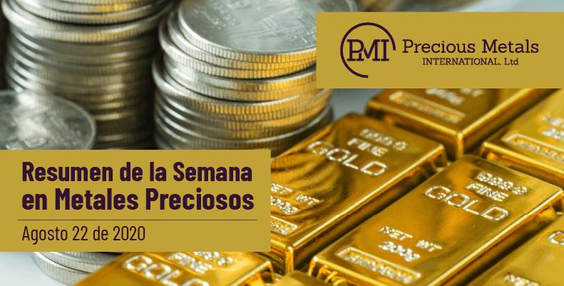 Resumen de la Semana en Metales Preciosos - Agosto 22 de 2020.