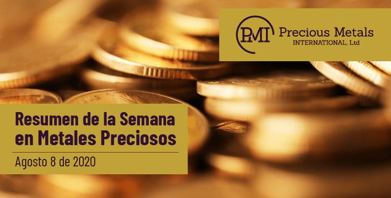 Resumen de la Semana en Metales Preciosos - Agosto 8 de 2020.