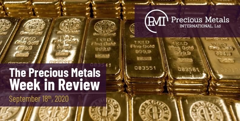 The Precious Metals Week in Review - September 18th, 2020.