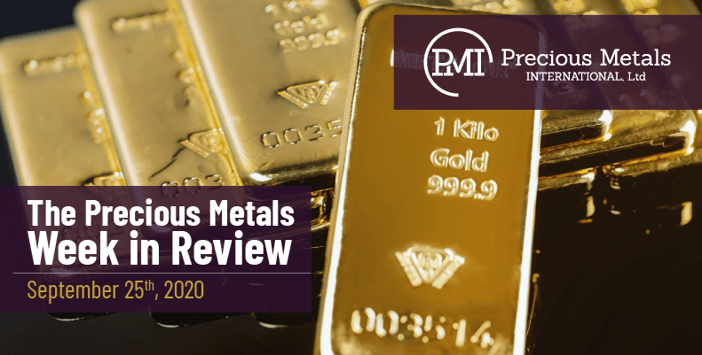 The Precious Metals Week in Review - September 26th, 2020.