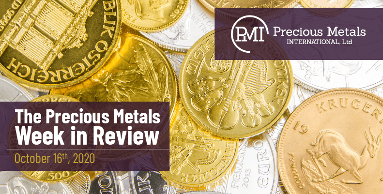 The Precious Metals Week in Review - October 16th, 2020.