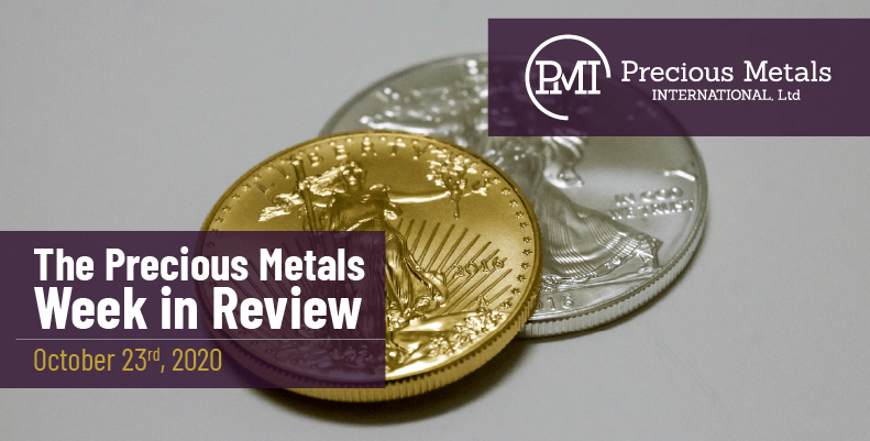 The Precious Metals Week in Review - October 23rd, 2020.