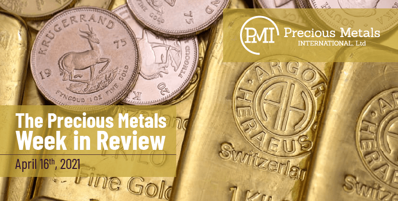 The Precious Metals Week in Review – April 16th, 2021