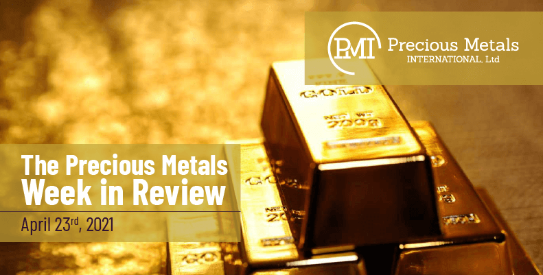 The Precious Metals Week in Review – April 23rd, 2021