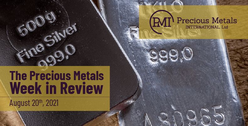 The Precious Metals Week in Review – August 20th, 2021.