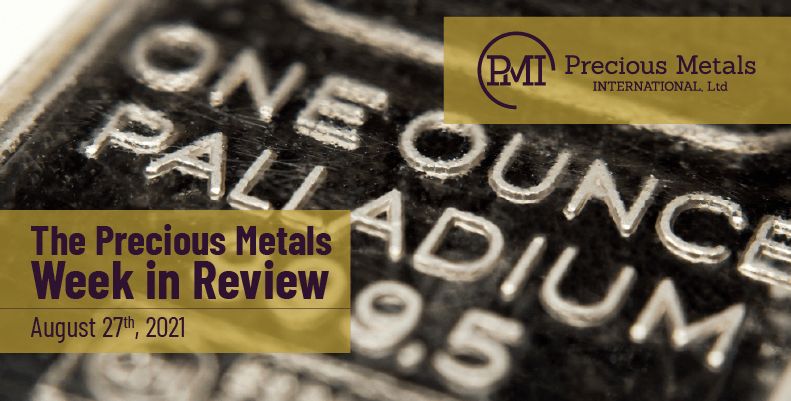The Precious Metals Week in Review – August 27th, 2021.