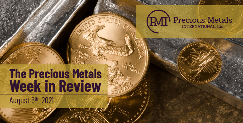 The Precious Metals Week in Review – August 6th, 2021.