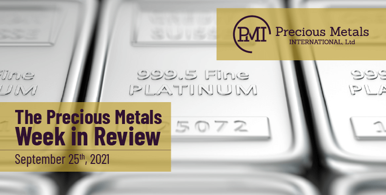 The Precious Metals Week in Review – September 24th, 2021