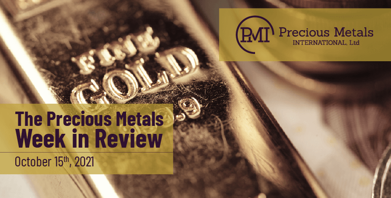 The Precious Metals Week in Review – October 15th, 2021