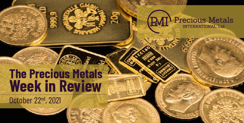 The Precious Metals Week in Review – October 22nd, 2021